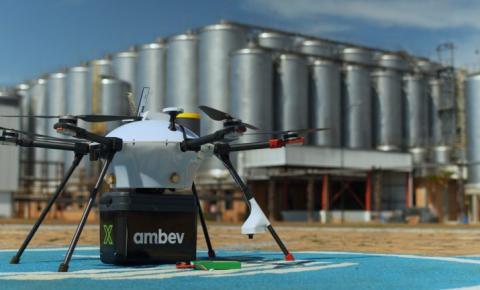 Ambev testa delivery com drone