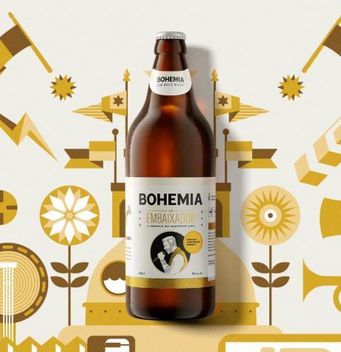 Cervejaria Bohemia lança rótulo especial: Bohemia do Embaixador